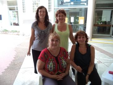 Equipo de Coordinación: Clarita, Ana, Pupe y Tena