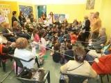 Visita del taller de Arteterapia a la casa de Apoyo FamiliarANTICO