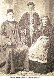 Familia de judíos sefaradíes