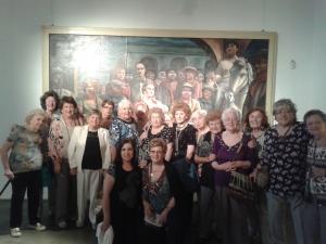 El grupo disfrutó mucho la visita y culmino con  te y cosas ricas en la hermosa confitería del museo