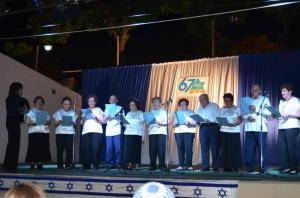 Club Simjá canta en el acto de Iom Haatzmaut