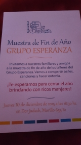 ESPERANZA: MUESTRA ANUAL2015